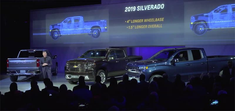 2019 Silverado 4 Inch Longer Wheelbase And 1 5 Inches Longer Overall