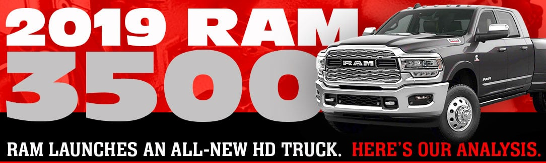 Following in the tire tracks of their popular 1500-series, Ram launches the new 2019 Ram 3500 with refreshed sheet metal, redesigned interior, and up to 1,000 pound-feet of diesel torque. The heavy duty truck game just changed. Fiat Chrysler debuted their all-new 2019 Ram Heavy 2500, 3500 and Power Wagon this week at the 2019 […]