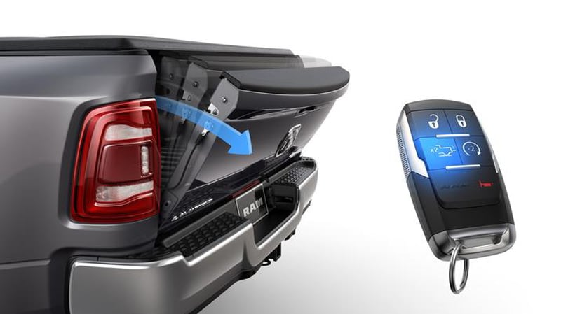 2019 Ram Easy Use Damping Tailgate With Remote