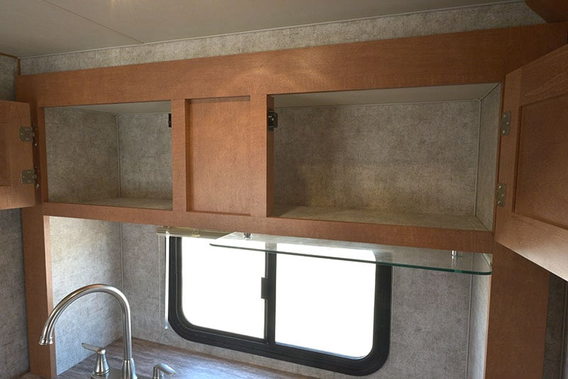 Adventurer 80GS Kitchen Upper Cabinetry Open