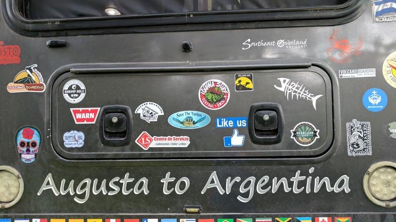 Augusta To Argentina Stickers