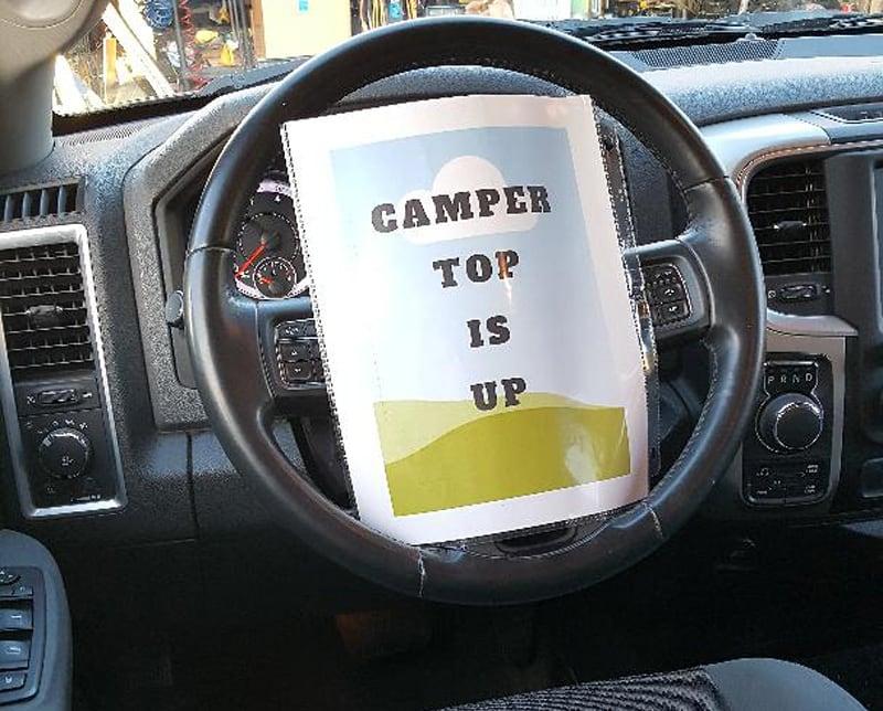 Camper Top Is Up