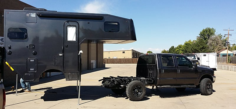 Chassis Camper Demounted From Truck