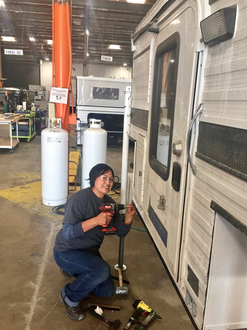 Fixing Neil's Camper At Factory