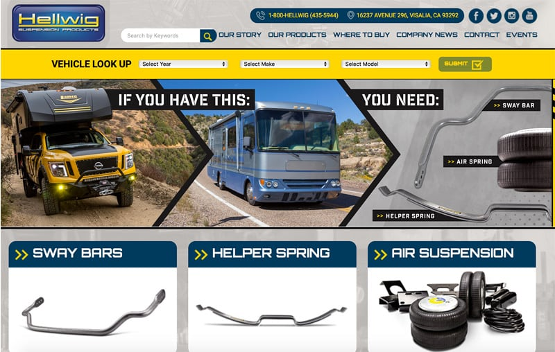 Hellwig Products New Website