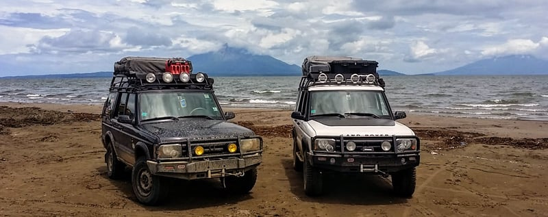 Landrovers Camping Together