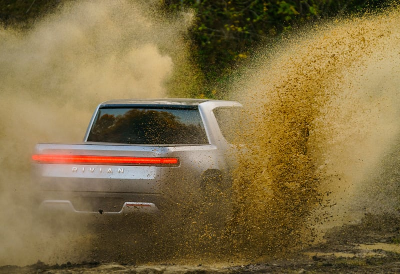 Rivian R1T Water Off Road