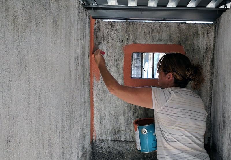 Volunteer Work School Painting