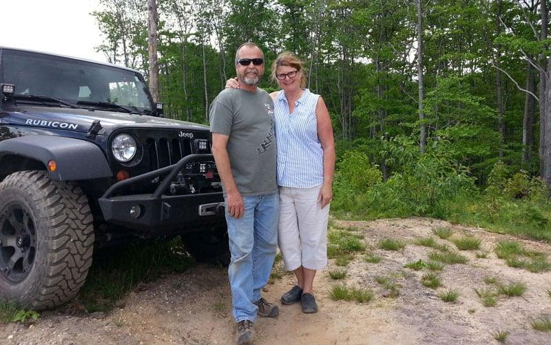 Bruce and Deb Jeep Rubicon