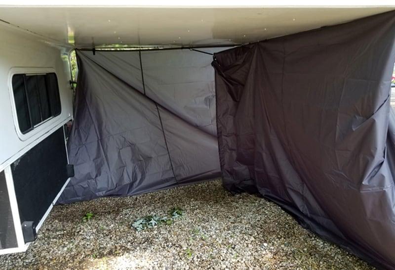 Cabover Skirt Inside Tarp Area