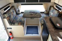 Four Wheel Flatbed Fleet Interior Dinette is Big