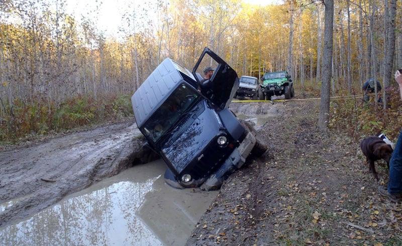 Jeep Rubicon In Mud Michigan