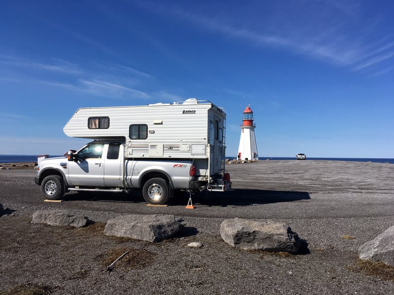 Point Riche Lighthouse Parking Lot Camping