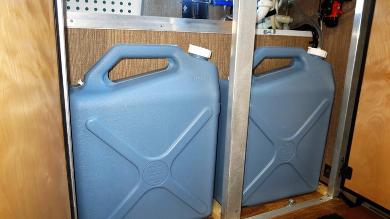 -gallon fresh water containers