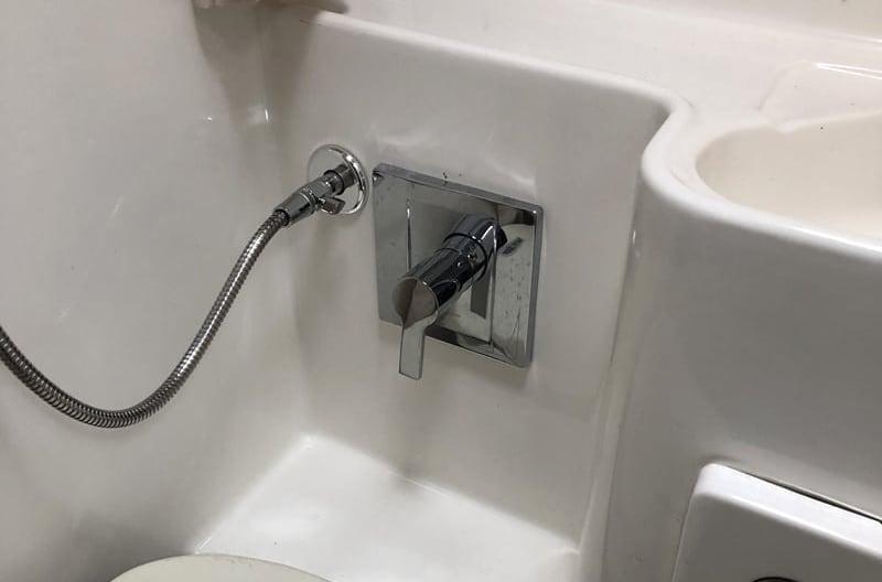 Residential Shower In Wet Bath Camper