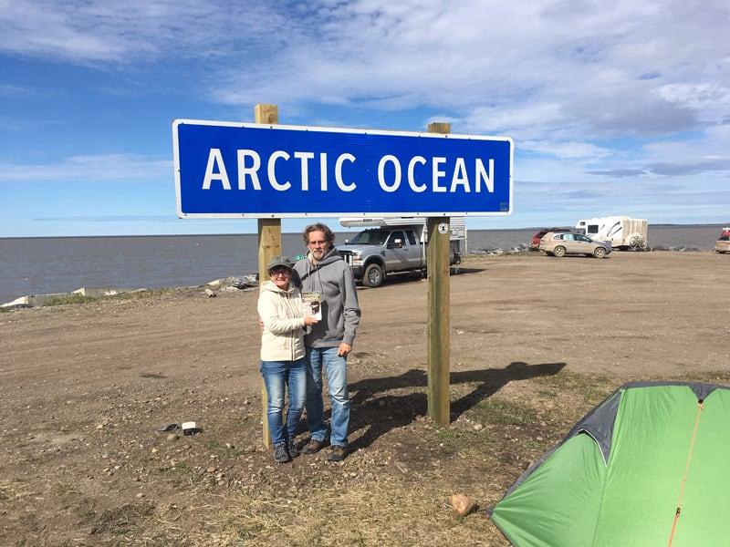 Tuktoyuktuk Arctic Ocean With Magazine