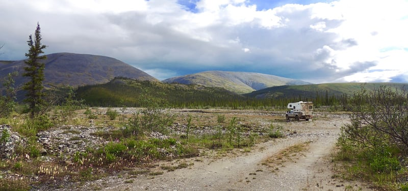 Typical Free Campsite That We Stayed At On The Dempster