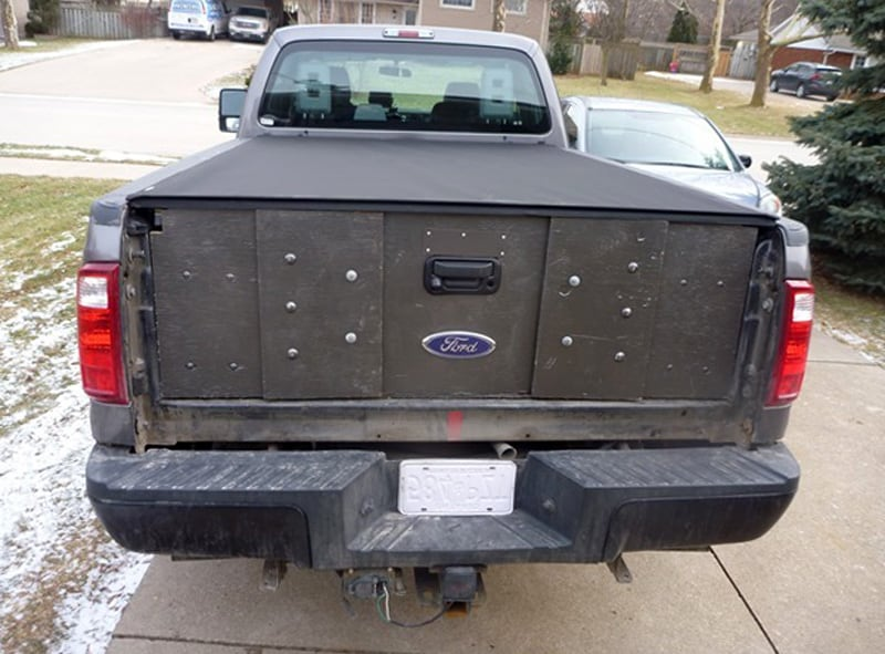 Wooden Tailgate Ford Truck Installed