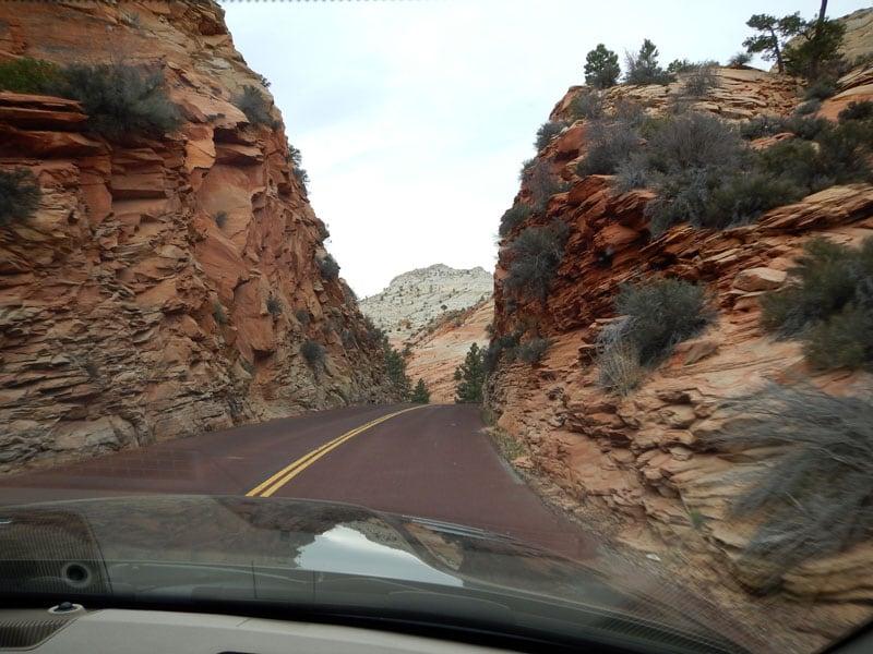 Zion Drive Through Utah