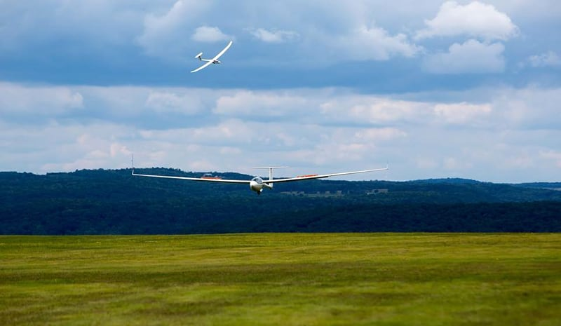 Gliders Landing on air strip