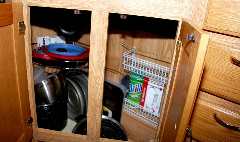 Kitchen Under Sink Storage Racks