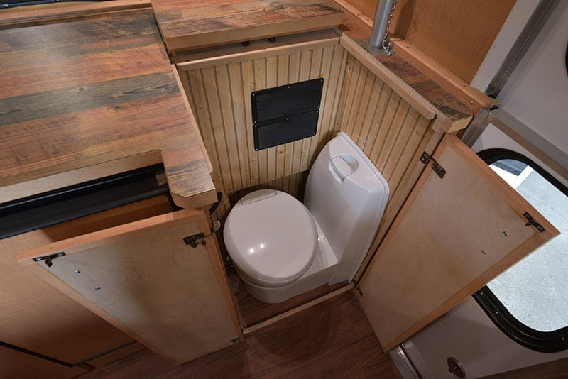 Alaskan Campers have a hidden toilet