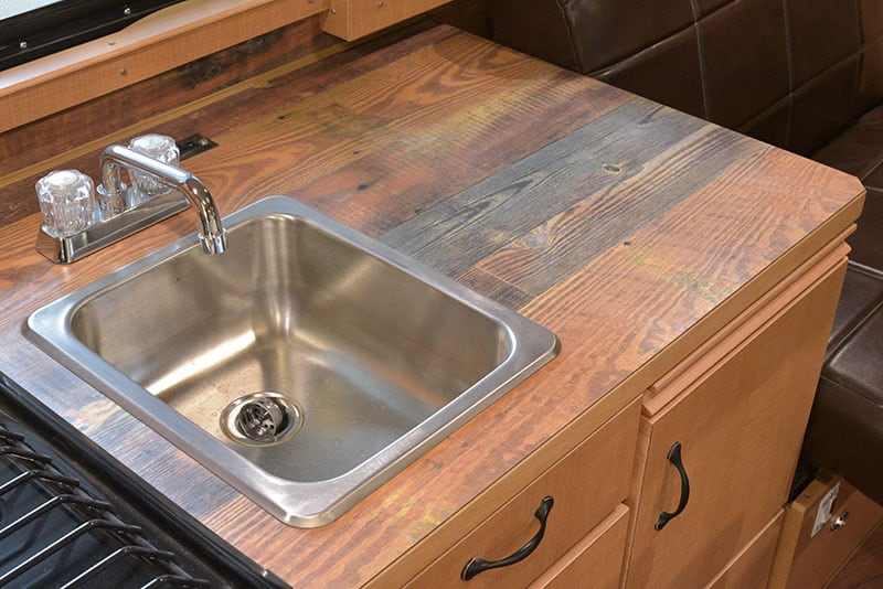 Alaskan Camper Kitchen Sink Counter