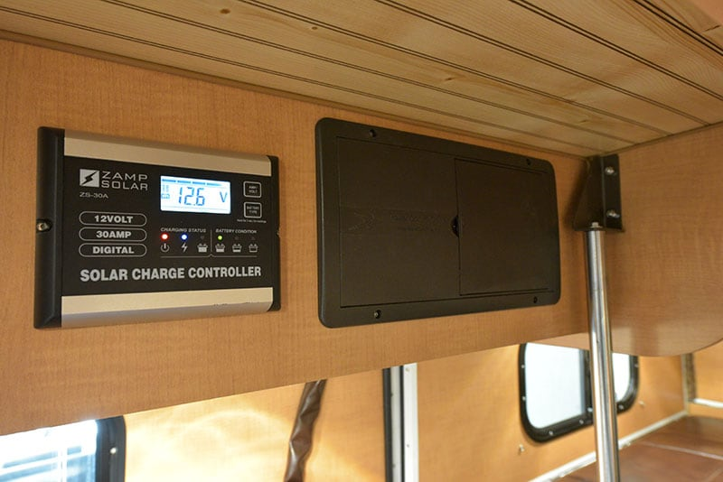Alaskan Camper Kitchen Upper Solar Controller Fuse Panel