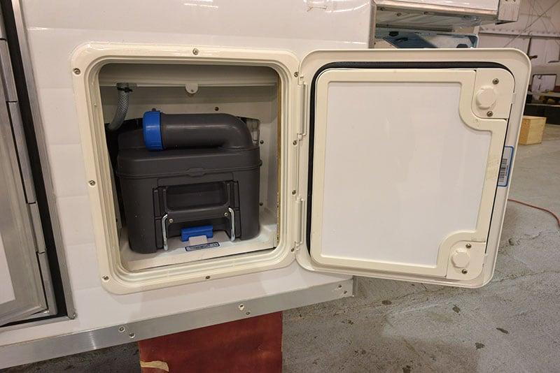 Alaskan Campers have Cassette Toilets