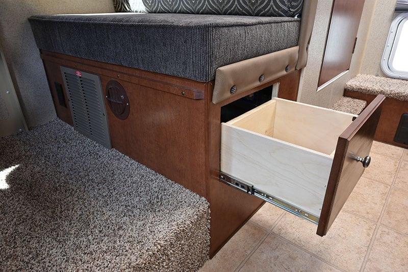 Arctic Fox 865 Dinette Under Seat Power Drawer Heat