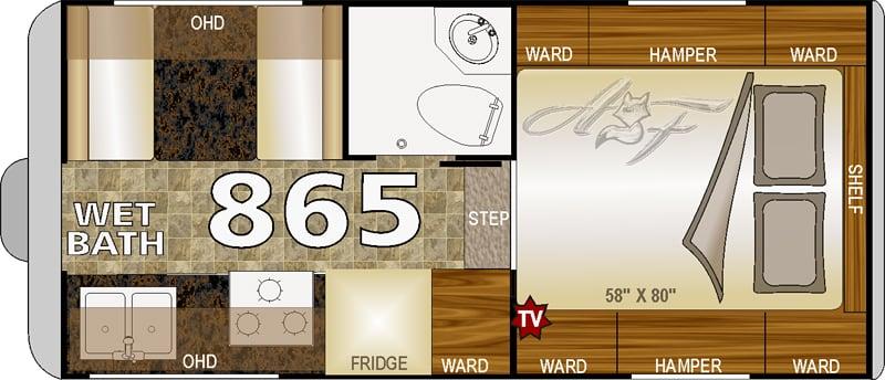 Arctic Fox 865 Floor Plan