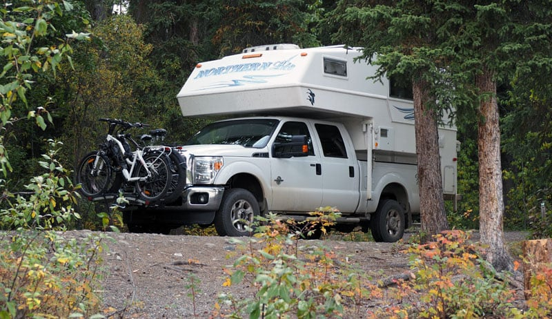 Camping at Frances Lake in the Yukon