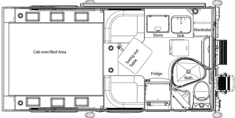 Cirrus 720 Camper Floor Plan