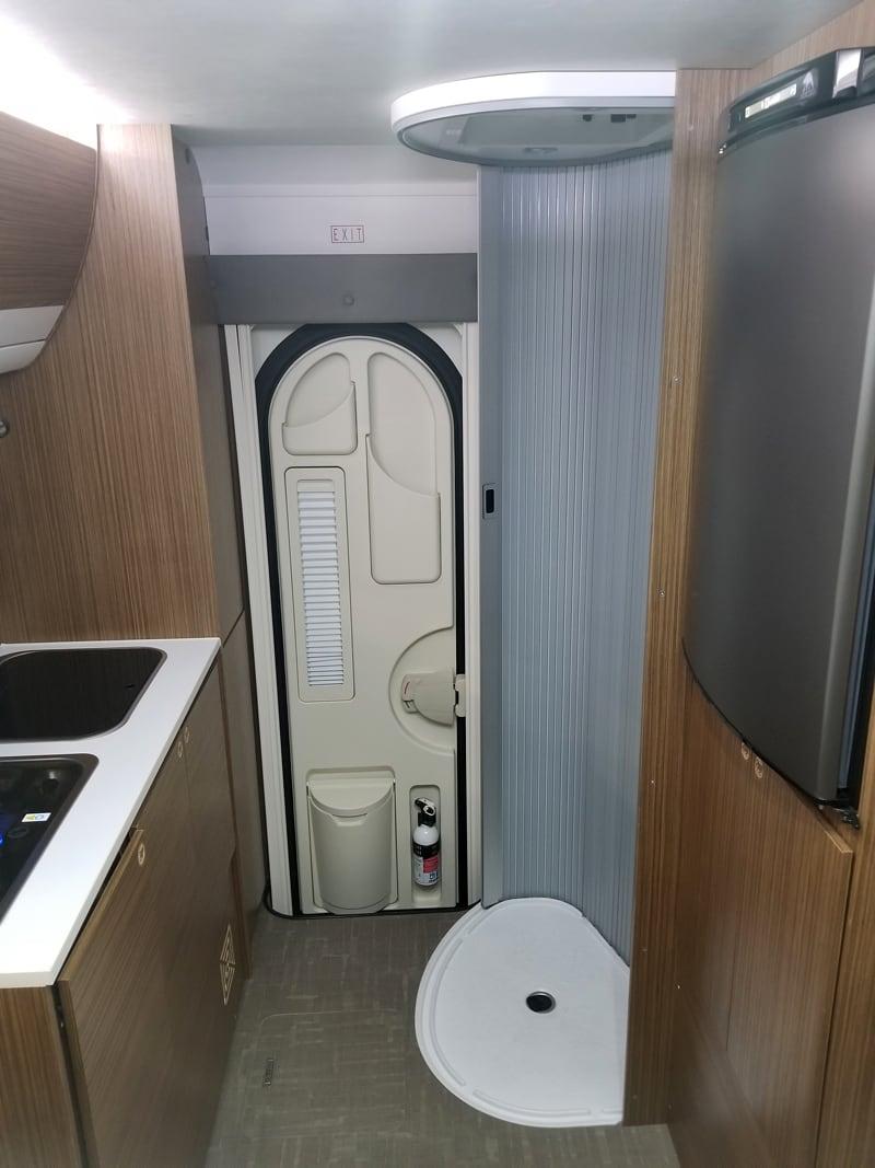 Cirrus 720 Bathroom Door Open