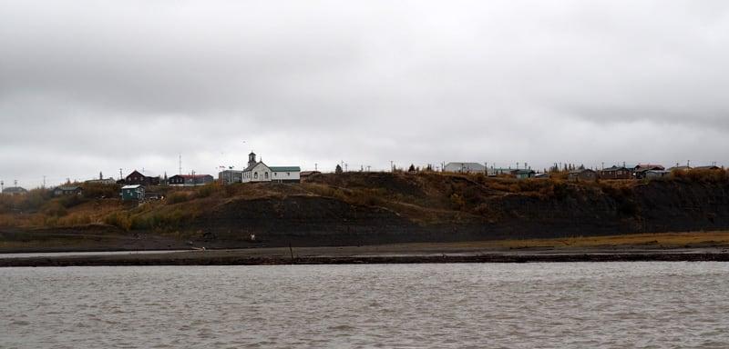 Tsiigehtchic At Mackenzie Riiver Crossing