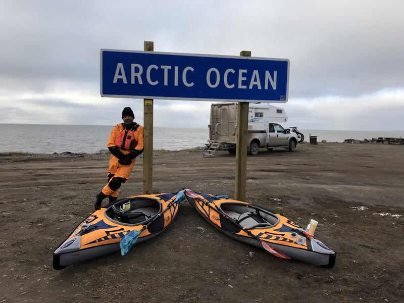 At The Arctic Ocean Sign in Tuk