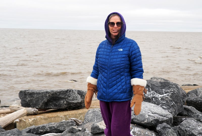 Nancy Next To Arctic Ocean In Tuk