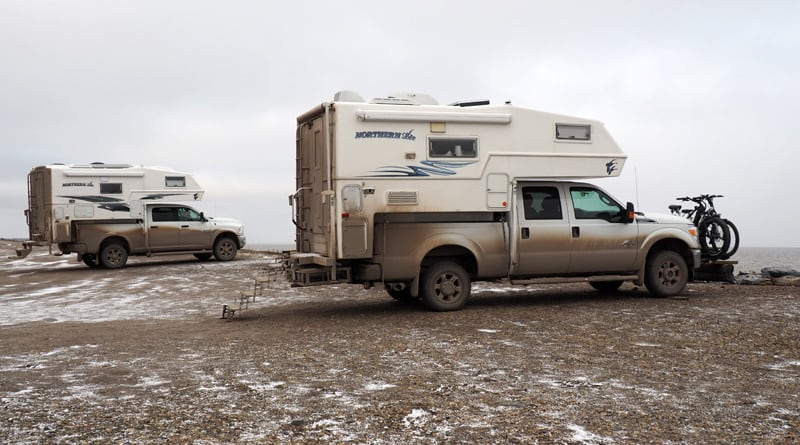 Campground In Tuk with another Northern Lite