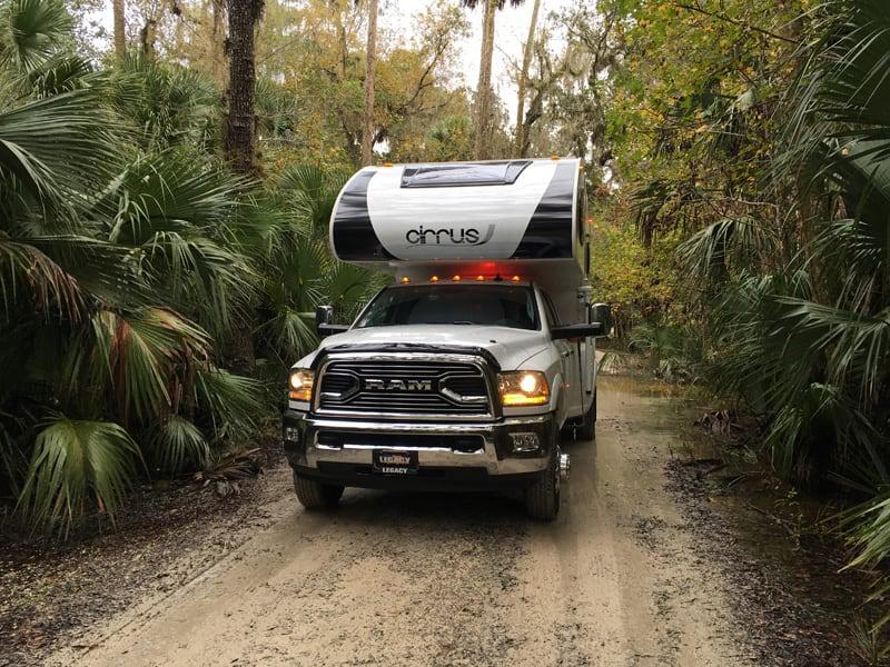 Dirt Road In Florida Mud After Rain