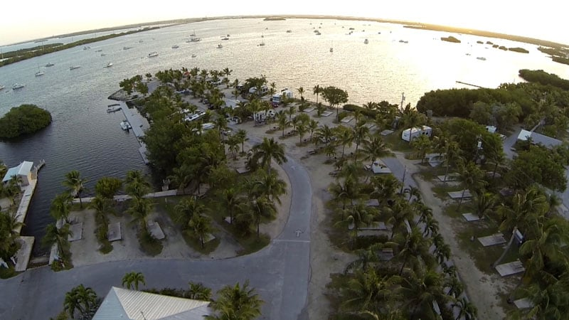 Aerial View Boyds Campground Key West