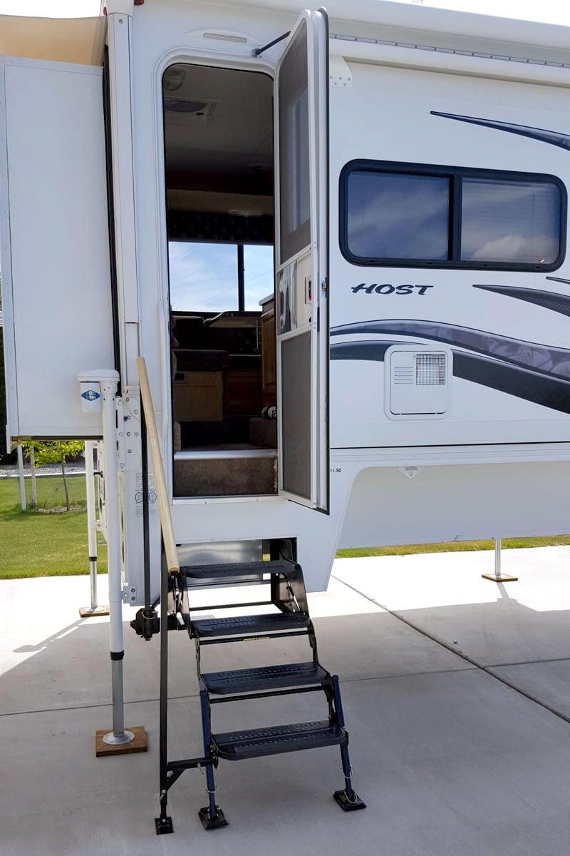 Banister For Camper Makes Entry Safer