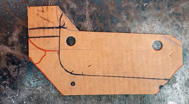 Banister Modification Cardboard Template