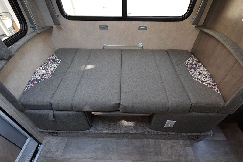 Bigfoot Camper Dinette Made Into Bed