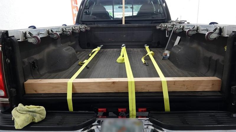 Bump Stop Wood Piece To Straighten Truck Metal
