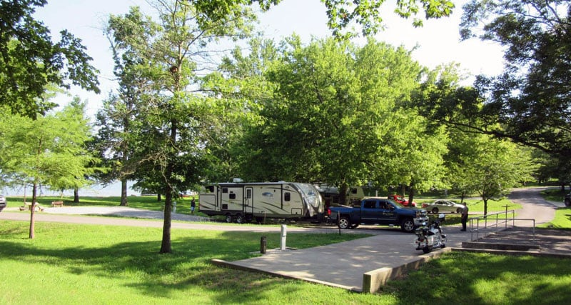 Cages Bend Campground Travel Trailer