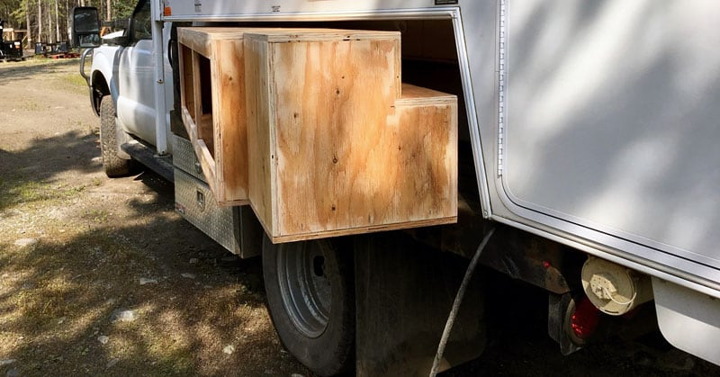 Flatbed Truck Storage Boxes Installation