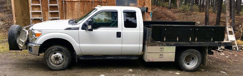 Flatbed Truck Storage Boxes Top And Bottom