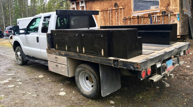 Flatbed Truck Storage Boxes Without Camper