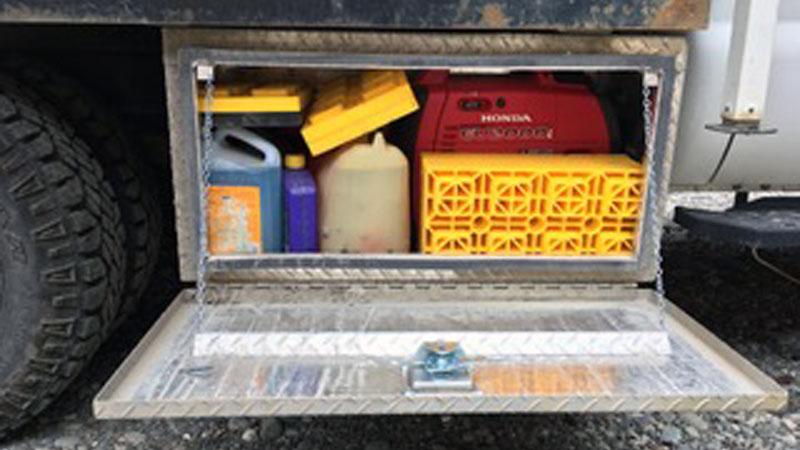 Generator Storage Flatbed Truck Weight Low