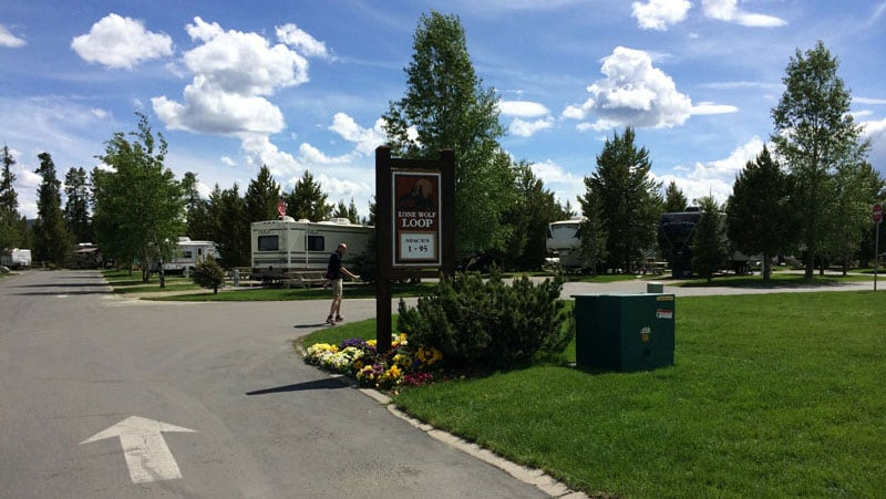 Grizzly RV Park in the town of West Yellowstone